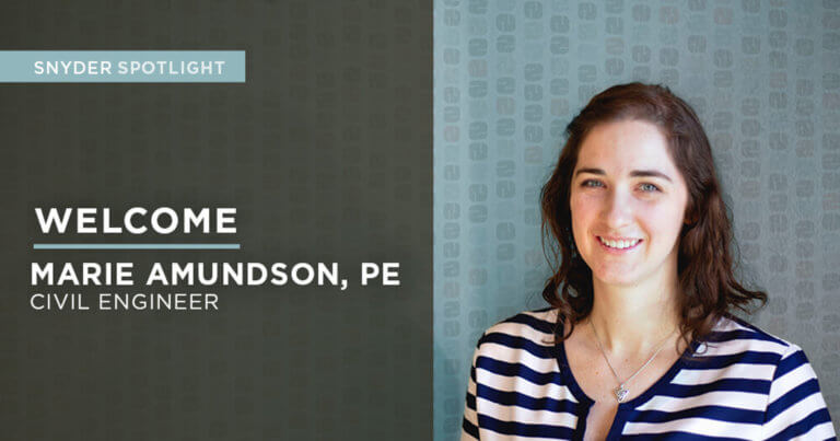 Muncipal Engineer Marie Amundson brings over eight years of experience to the Snyder & Associates Madison team with a focus on stormwater management and GIS asset management.