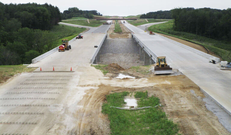 mid-construction of overpass