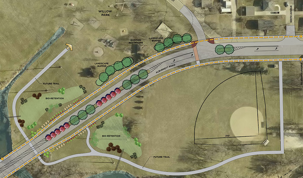 willow park trailhead concept rendering